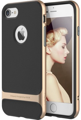 Rock Royce Series Hybrid iPhone 8 Kılıf Gold