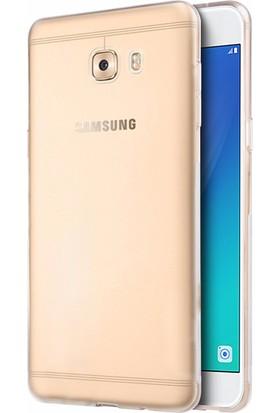 Microsonic Samsung Galaxy C7 Pro Transparent Soft Kılıf Beyaz