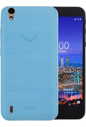 Microsonic Vestel Venüs 5530 Transparent Soft Kılıf Mavi