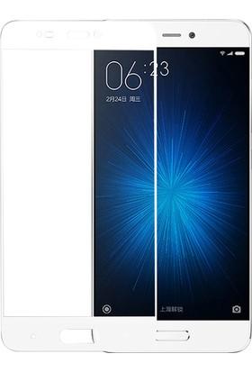 Microsonic Xiaomi Mi5 Tam Kaplayan Temperli Cam Ekran Koruyucu Beyaz