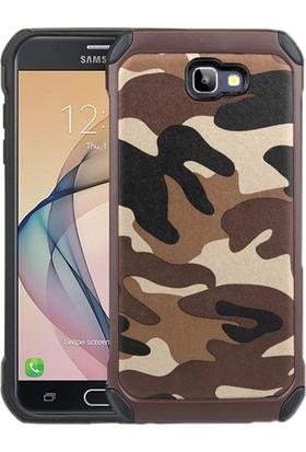 Microsonic Samsung Galaxy J5 Prime Camouflage Armor Kılıf Kahverengi