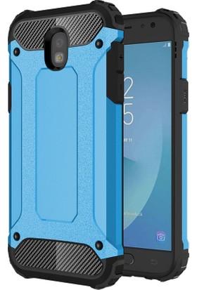 Microsonic Samsung Galaxy J7 Pro Rugged Armor Kılıf Mavi