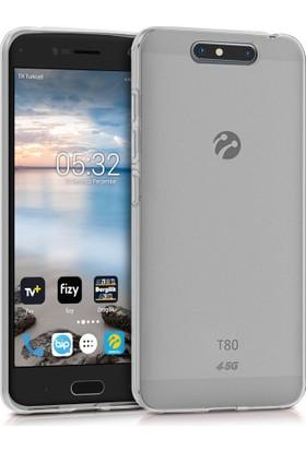 Microsonic Turkcell T80 Transparent Soft Kılıf Beyaz