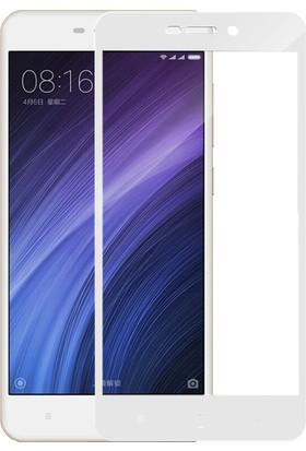 Microsonic Xiaomi Redmi 4A Tam Kaplayan Temperli Cam Ekran Koruyucu Beyaz