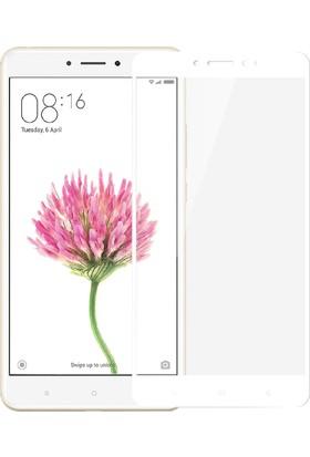 Microsonic Xiaomi Mi Max Tam Kaplayan Temperli Cam Ekran Koruyucu Beyaz