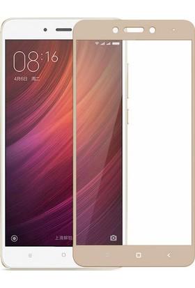 Microsonic Xiaomi Redmi Note 4X Tam Kaplayan Temperli Cam Ekran Koruyucu Gold