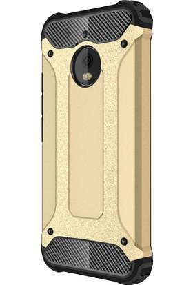 Microsonic Motorola Moto E4 (5.0'') Rugged Armor Kılıf Gold