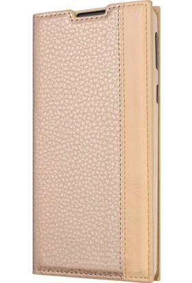 Microsonic Vodafone Smart N8 Gizli Mıknatıslı Delux Kılıf Gold