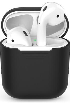 Microsonic Apple Airpods Bluetooth Kulaklık İçin Silikon Kılıf Siyah