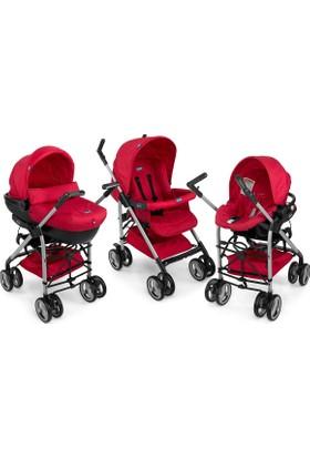 Chicco Trio Sprint Travel Sistem Bebek Arabası Black Scarlet