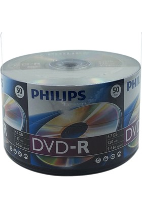 Philips 50'lik 4.7 GB DVD-R 1 Koli (12 Paket)