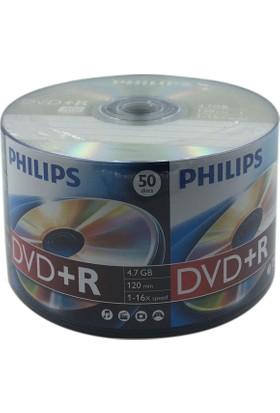 Philips 50'lik 4.7 GB DVD+R 1 Paket
