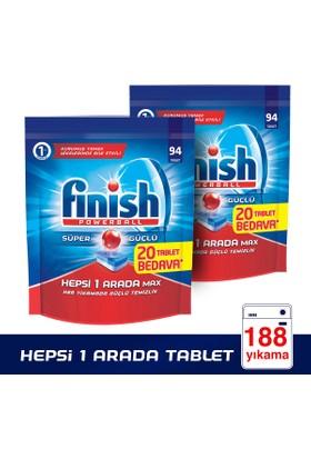 Finish Powerball Hepsi 1 Arada Bulaşık Makinesi Deterjanı 188 Tablet