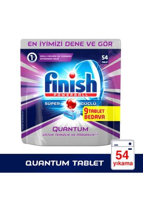Finish Bulaşık Makinesi Deterjanı Quantum Tablet 50'li