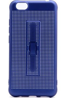 Kny Vestel Venüs E3 Kılıf Fileli Standlı Yüzüklü Silikon+Cam Ekran Koruyucu