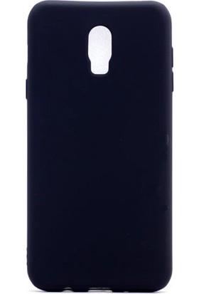 Kny Samsung Galaxy C8 Kılıf Ultra İnce Mat Silikon+Cam Ekran Koruyucu