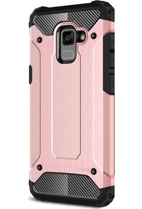 Kny Samsung Galaxy A7 2018 Kılıf Çift Katmanlı Armour Case+Cam Ekran Koruyucu