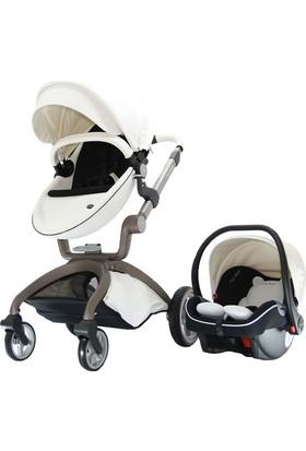 Yoyko Hotmom Travel Sistem Bebek Arabası Ana Kucaklı Beyaz Gri Kasa