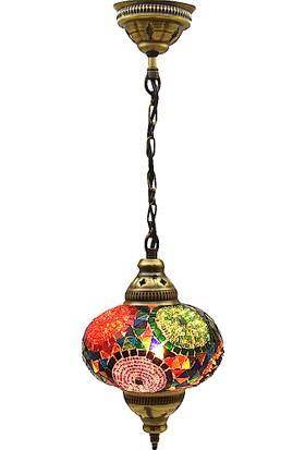 Büyük Otantik Tavan Sarkıt Avize Mozaik Lamba Gece Lambası