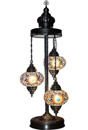 Lambader 3Lü Mozaik Gece Dekor Köşe Lambası