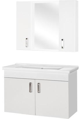 Hepsiburada Home Saydam Nova 80 Cm Mdf Banyo Dolabı Beyaz