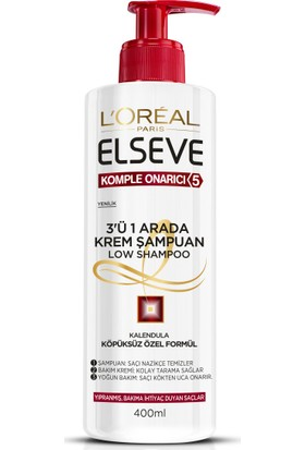 L'oreal Elseve Köpüksüz Şampuan Kompleks Onarıcı 5