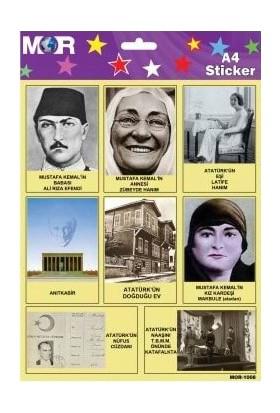 Mor Atatürk'ün Hayatı - 12'li Sticker