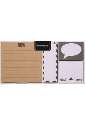 Syloon Yapışkanlı Siyah Beyaz Notluk Seti SA060355A