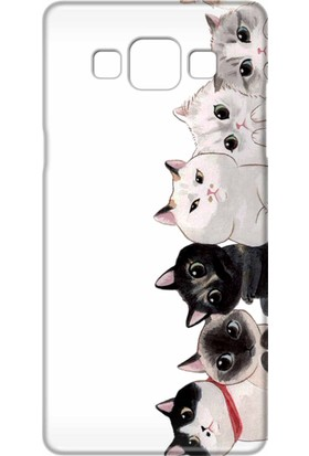 Svart Case Samsung Galaxy A7 2015 Silikon Baskılı Arka Kapak