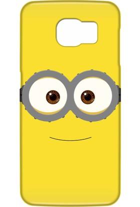 Svart Case Samsung Galaxy S6 Edge Plus Silikon Baskılı Arka Kapak