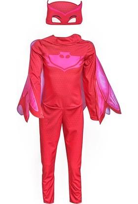 PijaMaskeliler Baykuş Kız Çocuk Kostüm 4-6 Yaş