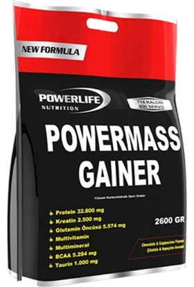 Powerlife Mass Gainer 2600 Gr (Çikolata-Kapuçino)
