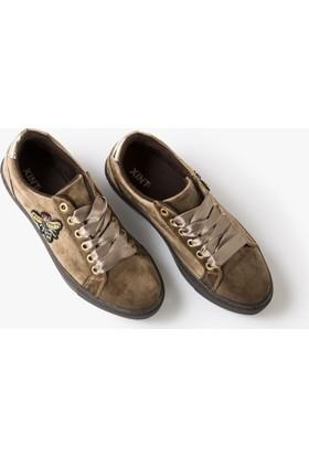 Xint Kalın Tabanlı İşlemeli Blucher Ayakkabı