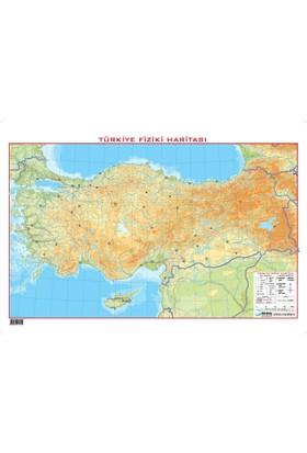 Türkiye Fiziki 35*50 Dilsiz Harita Yeni - Çıtasız