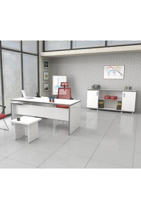 Tefrishop Sandy 180 Ofis Masa Takımı(Beyaz)