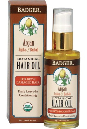 Badger Argan Botanıcal Haır Oıl Kuru Ve Yıpranmış Saçlar İçin Saç Yağı 59.1Ml