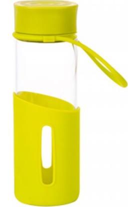 EW's Kitchenware Yarım Slikon Kapaklı Cam Şişe Yeşil