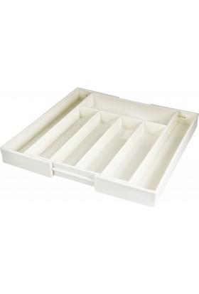 EW's Kitchenware Kitchenware Akrilik Çekmece İçi Kaşıklık Beyaz