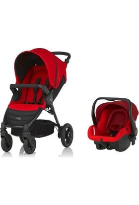 Britax-Römer B-Motion 4 Plus  - Flame Red  Travel Set