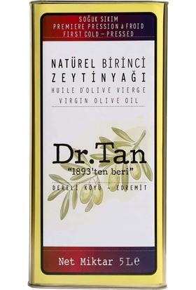 Dr. Tan Soğuk Sıkım Natürel Birinci Zeytinyağı 5 lt Teneke