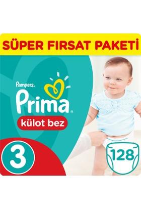 Prima Pants Külot Bebek Bezi 3 Beden Midi Süper Fırsat Paketi 128 Adet