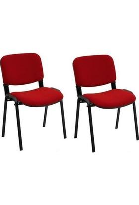 Ofisbazaar Form Sandalye Bordo - 2 Adet