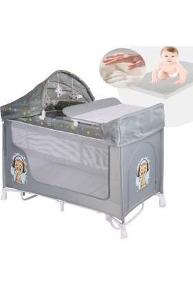 Lorelli Sanremo 60X120 Park Yatak Beşik Bebek Oyun Parkı Hamak - Gri