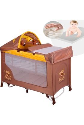 Lorelli Sanremo 60X120 Park Yatak Beşik Bebek Oyun Parkı Hamak - Sarı