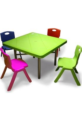 Binbirreyon Çocuk Masa Sandalye Seti Ders Çalışma Ve Yemek Masası Aa055