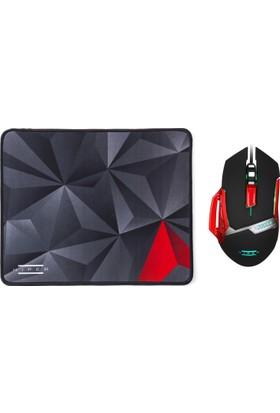 Hiper Naga X80 3200DPI Oyuncu Mouse + Mousepad Set