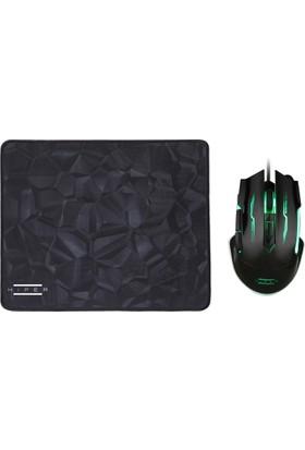Hiper Black Widow X20 Oyuncu Mouse + Mousepad Set
