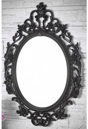 Evcazım Dekoratik Şık Görünükmü Duvar,Salon Boy Aynası (Siyah)