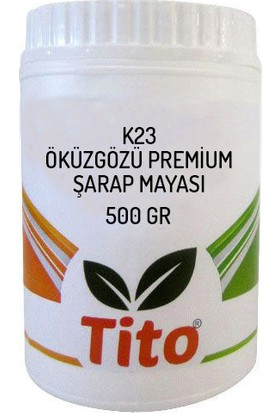 Tito K23 Öküzgözü Premium Şarap Mayası 500 gr