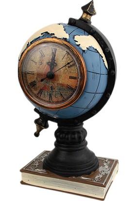 Dünya Şeklinde Dekoratif Masa Saati